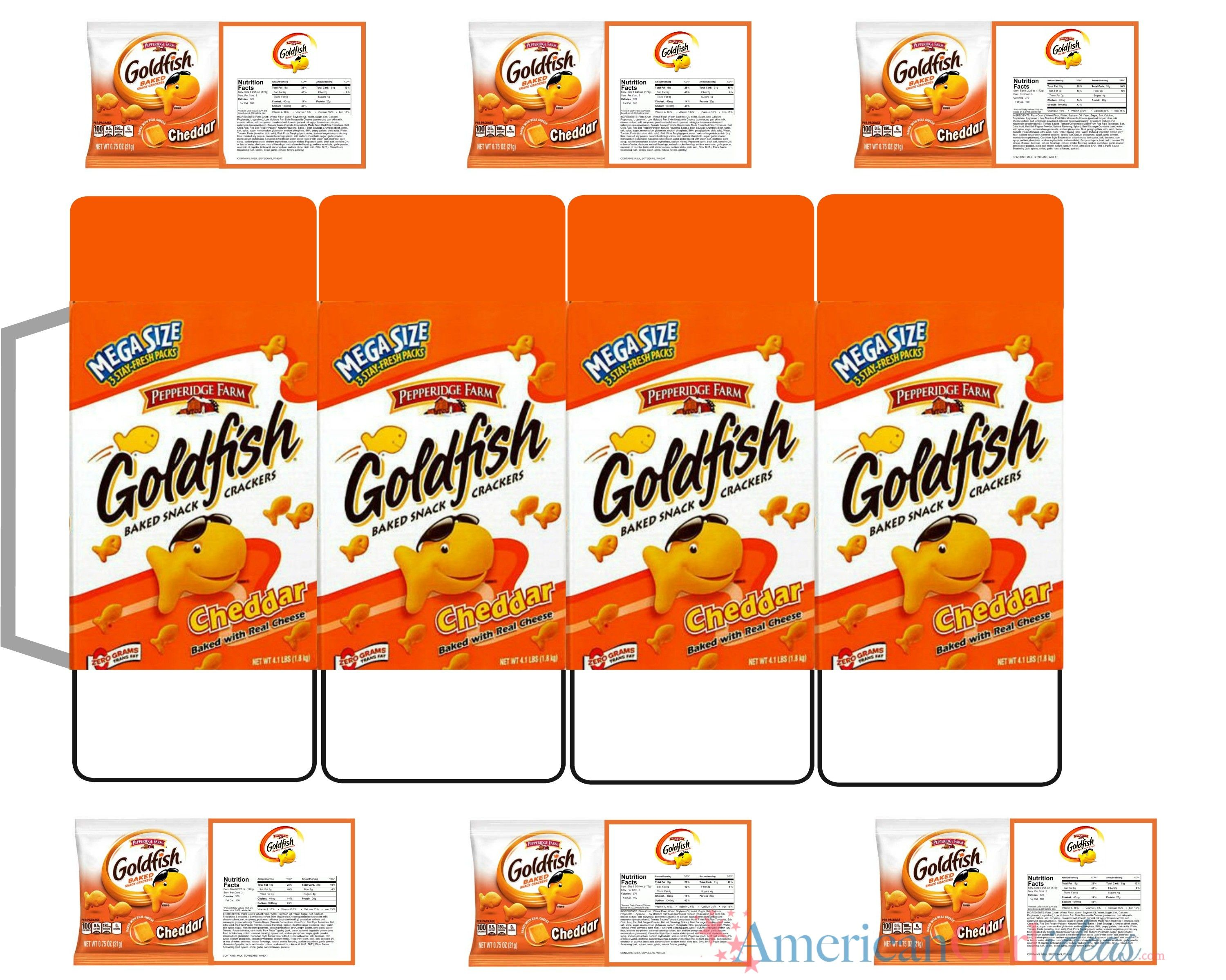 photograph relating to Printables Food named Dollhouse Foods Printables Woman goldfish printables