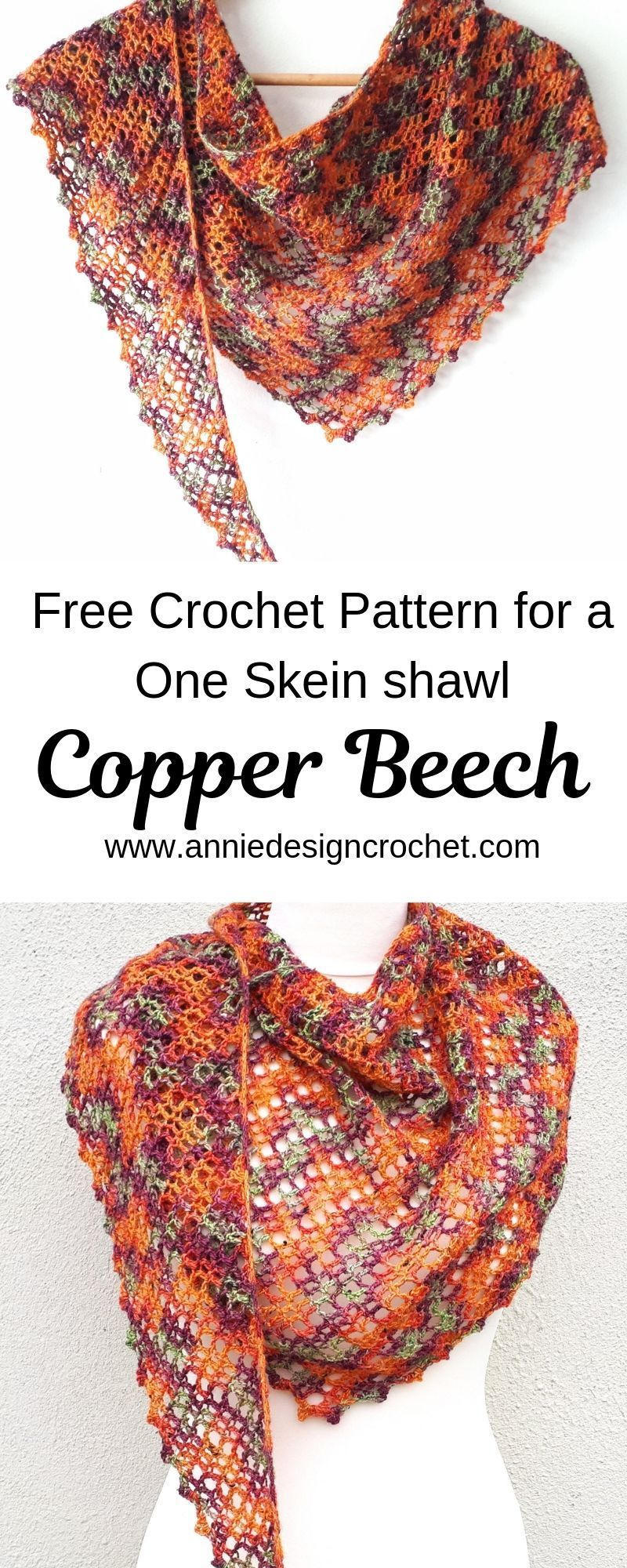 Free pattern for a one skein crochet shawl. Perfect for that precious skein of Indie Dyed yarn you have been saving. The easy beginner shawl pattern is a narrow, asymmetric design that can be draped as a shawl or wound around the neck as a scarf. #crochetscarves