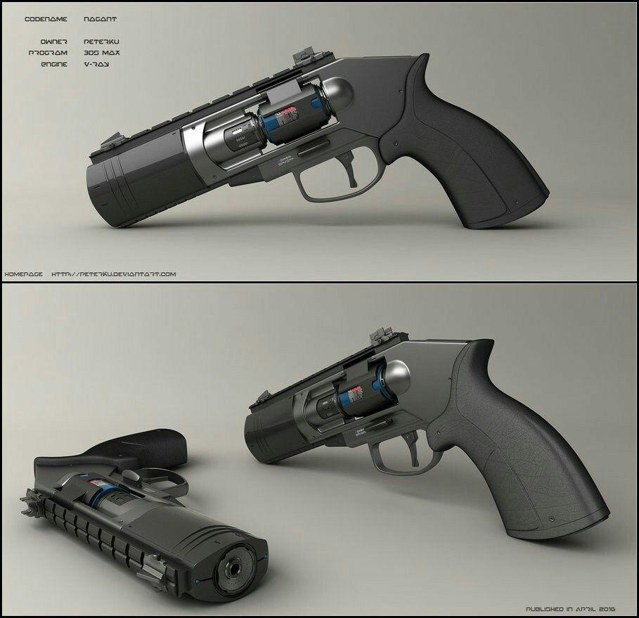 Futuristic weapon | RPG | Guns, Hand guns, Concept weapons