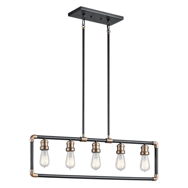 Kichler imahn 43887 linear chandelier from hayneedle com kitchen lightingbasement