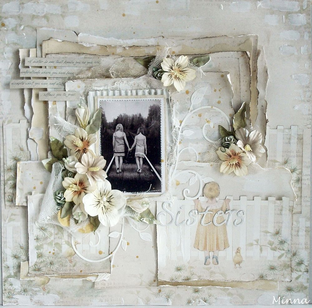 Scrapbook ideas grandma - Layout By Minna For Pion Design Pion Products Grandma S School Book Scrapbook