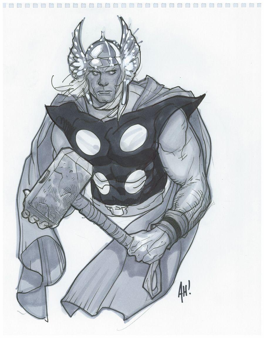 Thor by Adam Hughes *   Adam Hughes (markers)   Pinterest   Cómic ...