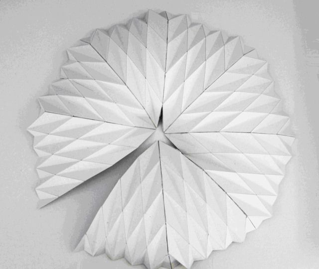 applications of origami dome � structural papel objetos