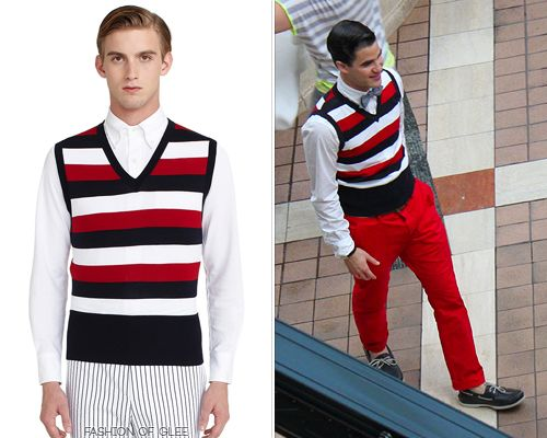 the famous striped sweater-vest :) This site is soo cool! It has ...