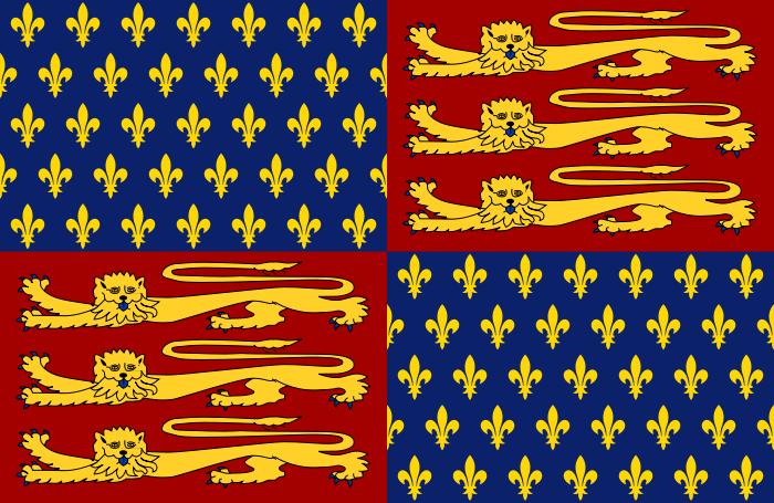 Royal Standard Of England 1406 1340 Historical Flags British Flag Flag