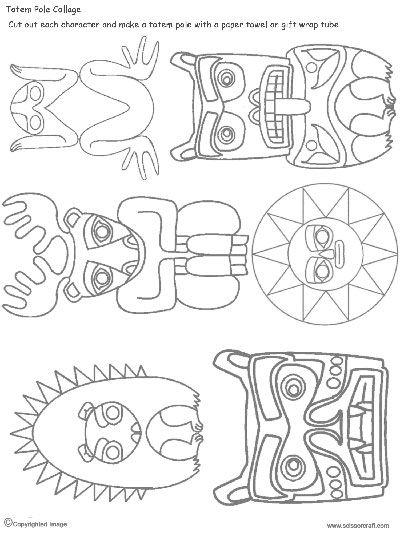 tlingit totem poles coloring pages - photo#39