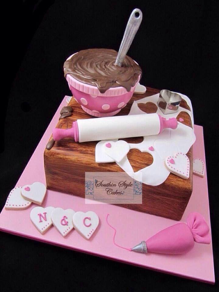 For the Baker or cake decorator in your family. Bakers Cake.