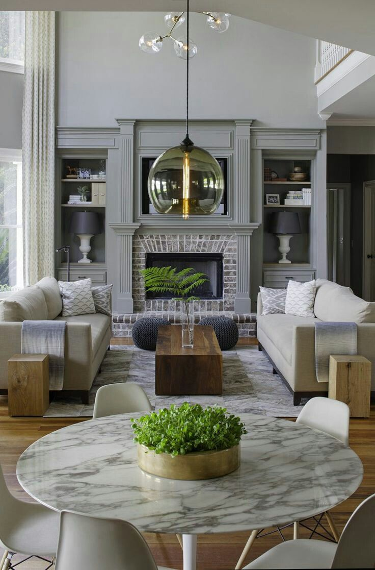 Transitional Interior Design Living Room