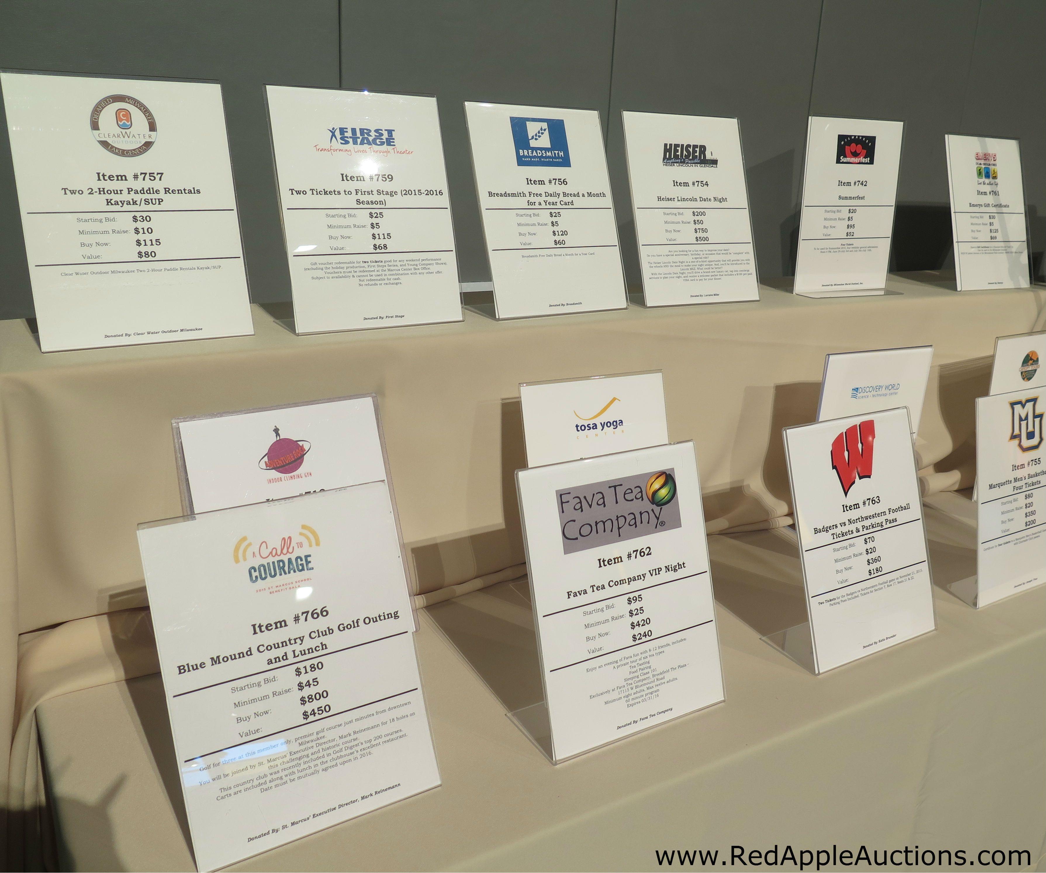 benefit auction item ideas