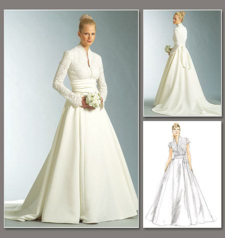 DIY wedding dress in Grace Kelly style from Vogue Patterns ...