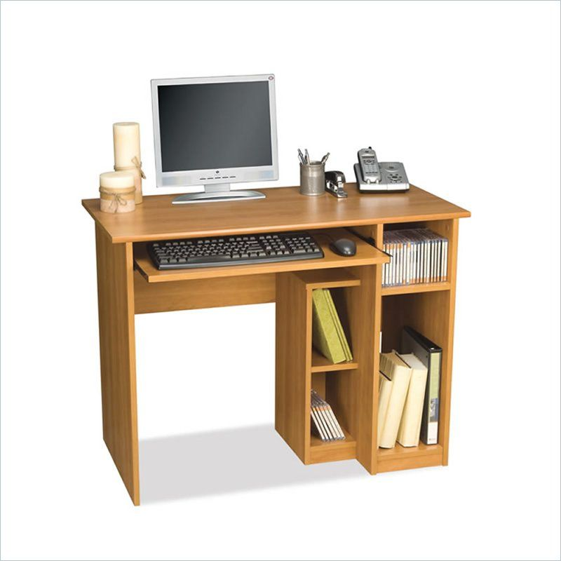 Basic Small Wood Computer Desk in Cappuccino Cherry