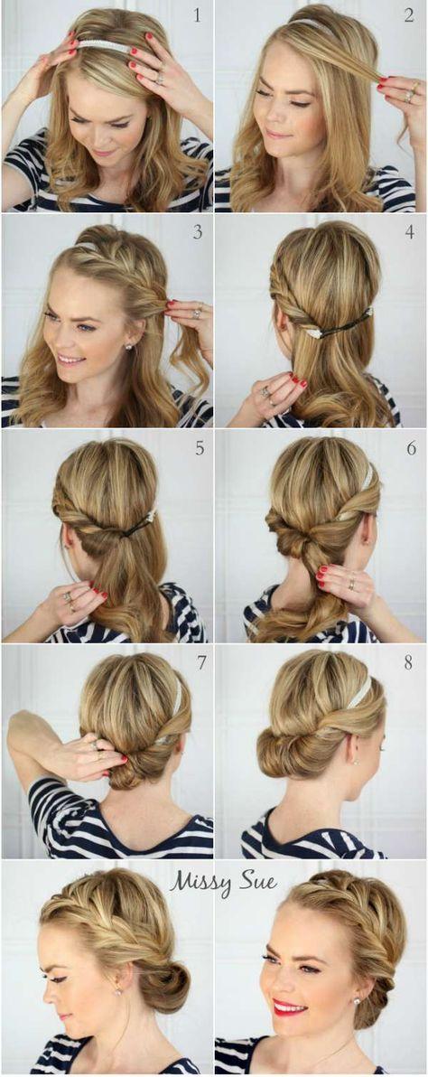 10 Coiffures faciles pour été Tuto coiffure cheveux long