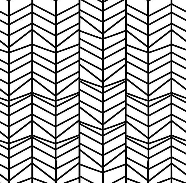 Gambar Garis Abstrak Hitam Putih Hering Corak Lancar Dengan Tangan Ditarik Mabuk Gari Geometric Background Black And White Vector Background Black And White