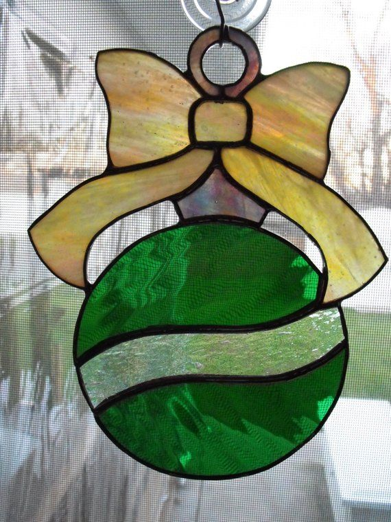 Stained Glass Christmas Ornament Suncatcher Products Pinterest