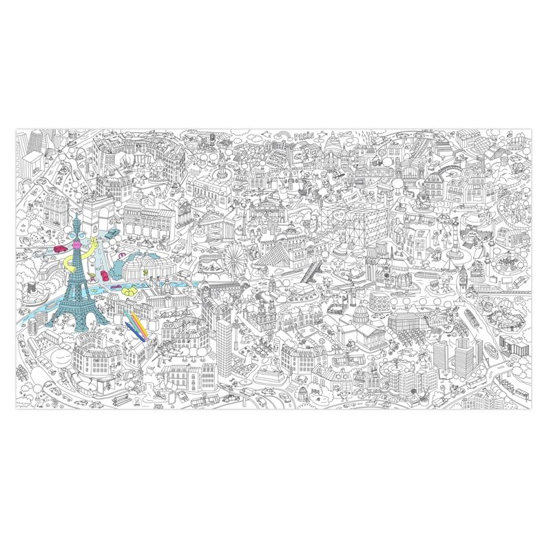 Giant Coloring Page Big Paris Www Omy Fr Coloring Pages