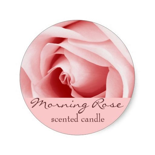 pink rose petals - scented candle or soap label stickers