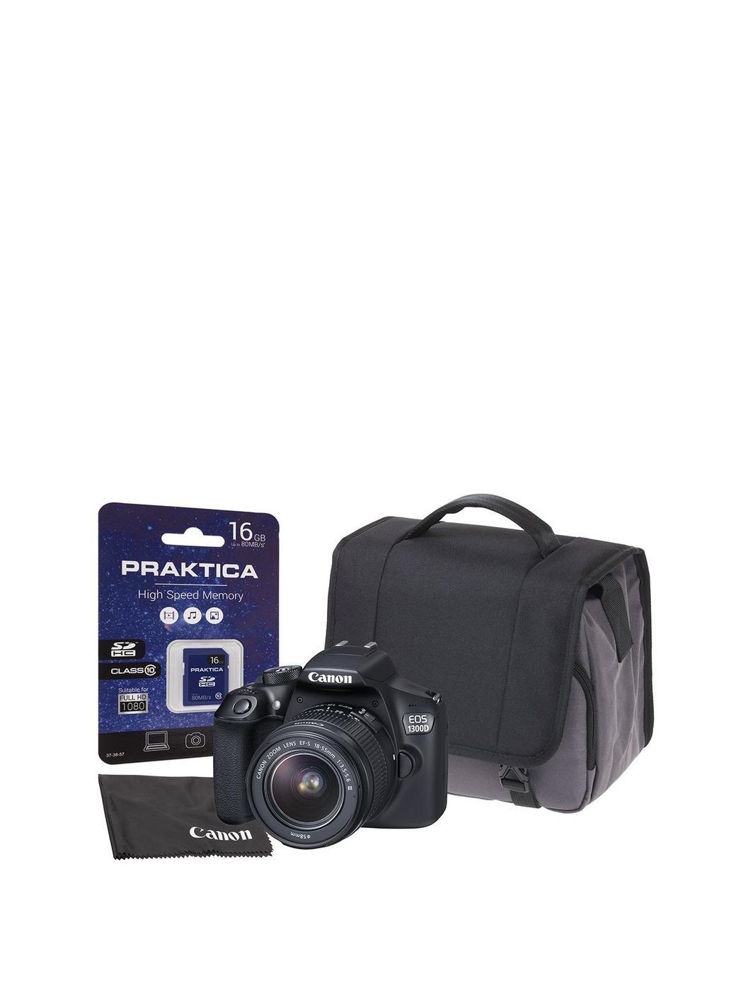 Eos 1300d Slr Kit Inc 18 55mm Dc Iii Lens 16gb Sd Cloth Kamera Canon 55