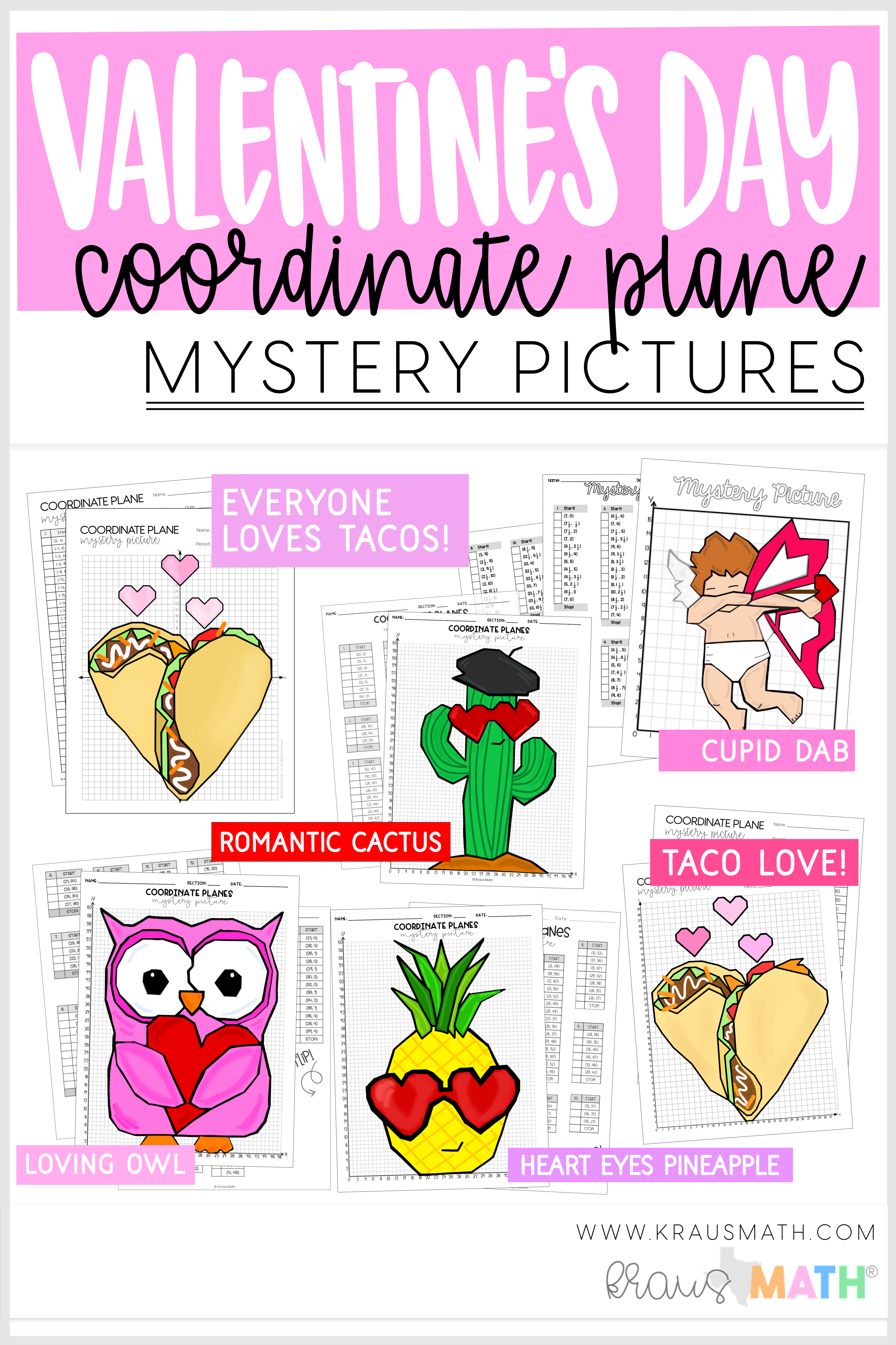Valentine S Day Cupid Dab Coordinate Plane Activity 1st
