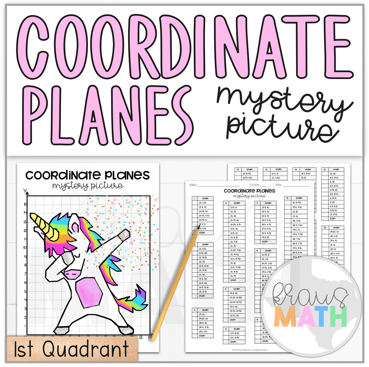 Unicorn Dab Coordinate Plane Mystery Pictures Kraus Math Coordinate Plane Coordinate Plane Graphing Coordinate Graphing [ 1194 x 1199 Pixel ]
