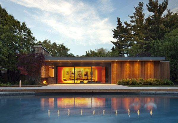 Modern Pool Houses tongtong modern pool house mid century | architecture | pinterest
