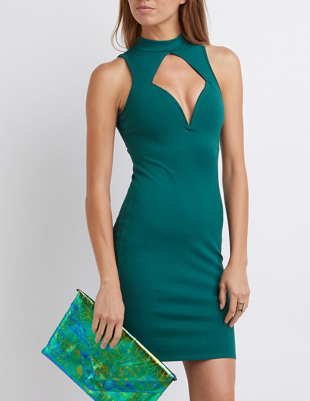 Mock Neck Cut-Out Bodycon Dress | Charlotte Russe | New Years/Going ...
