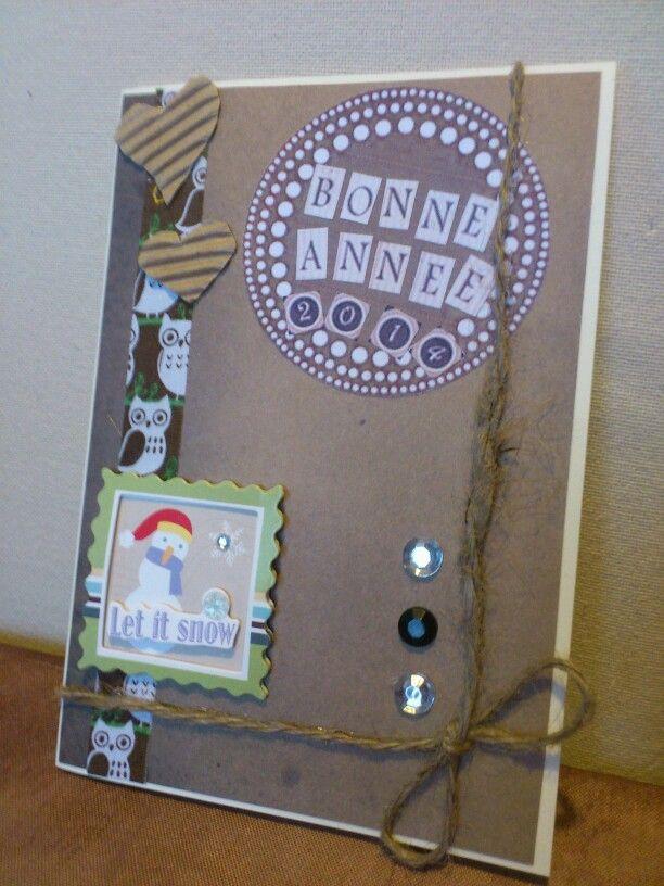 carte de voeux fait maison cartes et scrapbooking carte de voeux carte anniversaire et cartes. Black Bedroom Furniture Sets. Home Design Ideas