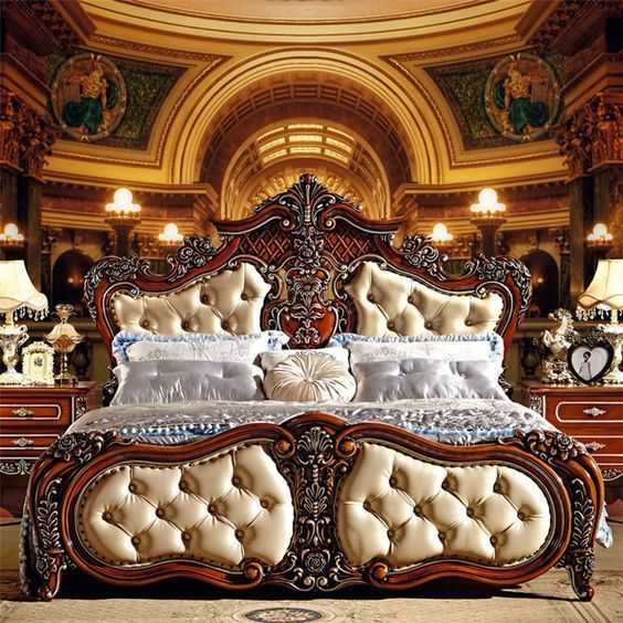 Cheap hot sale Classic Italian bedroom set hotel classical bedroom - Italian Bedroom Sets