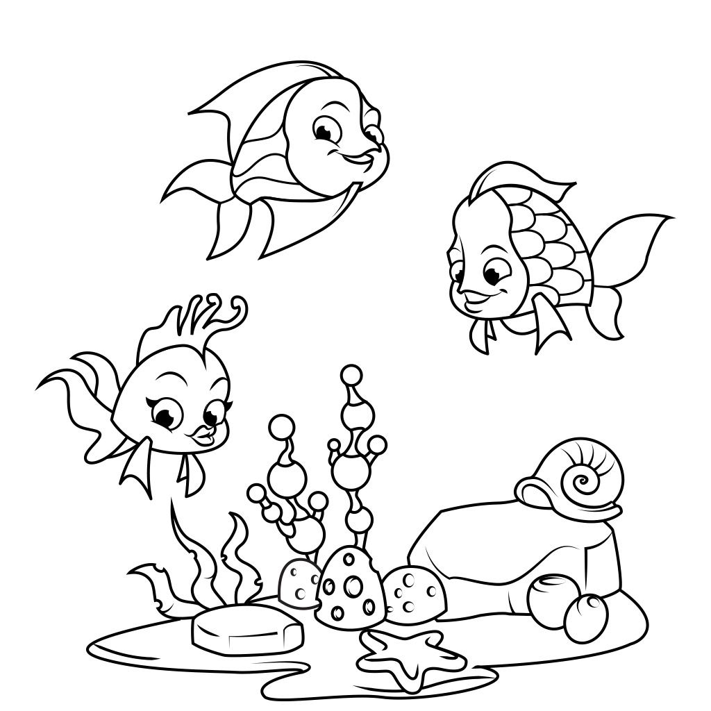 Fish Coloring Pages Fish Coloring Page Turtle Coloring Pages