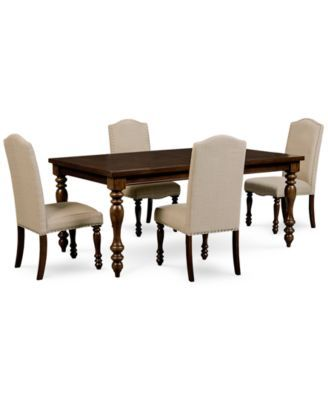 Kelso 5Pcdining Set Dining Table And 4 Side Chairs  Dining Gorgeous Side Chairs Dining Room Design Ideas