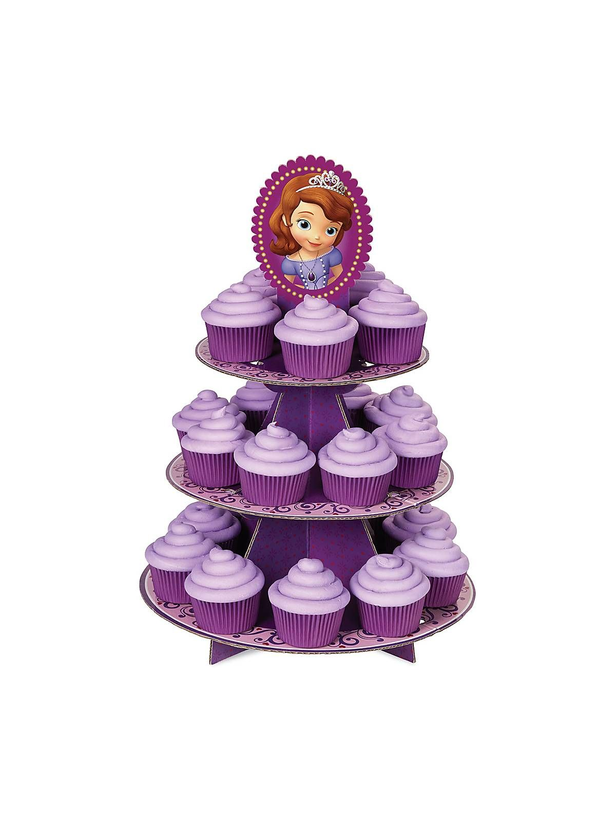 Sofia the First Cupcake Treat Stand | Reduced Individual Party Supplies