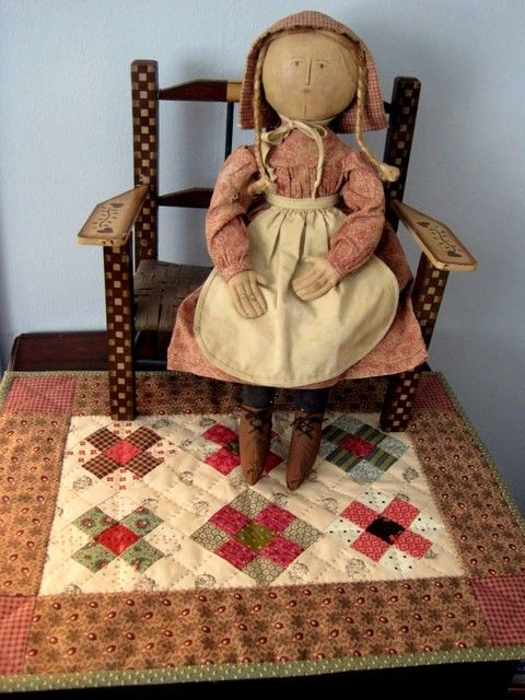 Free nine patch doll quilt pattern by doreen.m