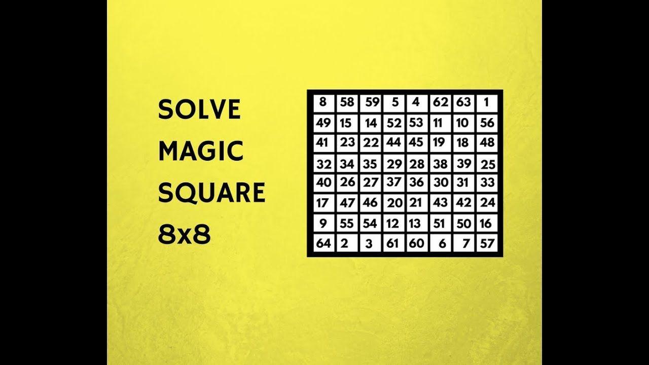 math worksheet : solve magic square 8x8 sum 260  genius iq test  magic square  : 8x8 Math