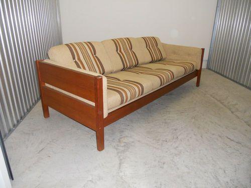 Century Furniture Sofa Quality White Sectional Cheap Mid Danish Modern Teak Wood Couch Nubby Upholstery Vtg Ebay Love The Box Frame