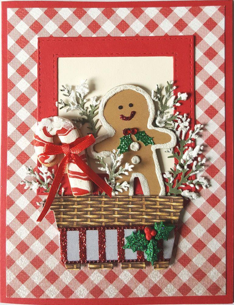 "christmas handmade greeting card kit ""cookie""laura"