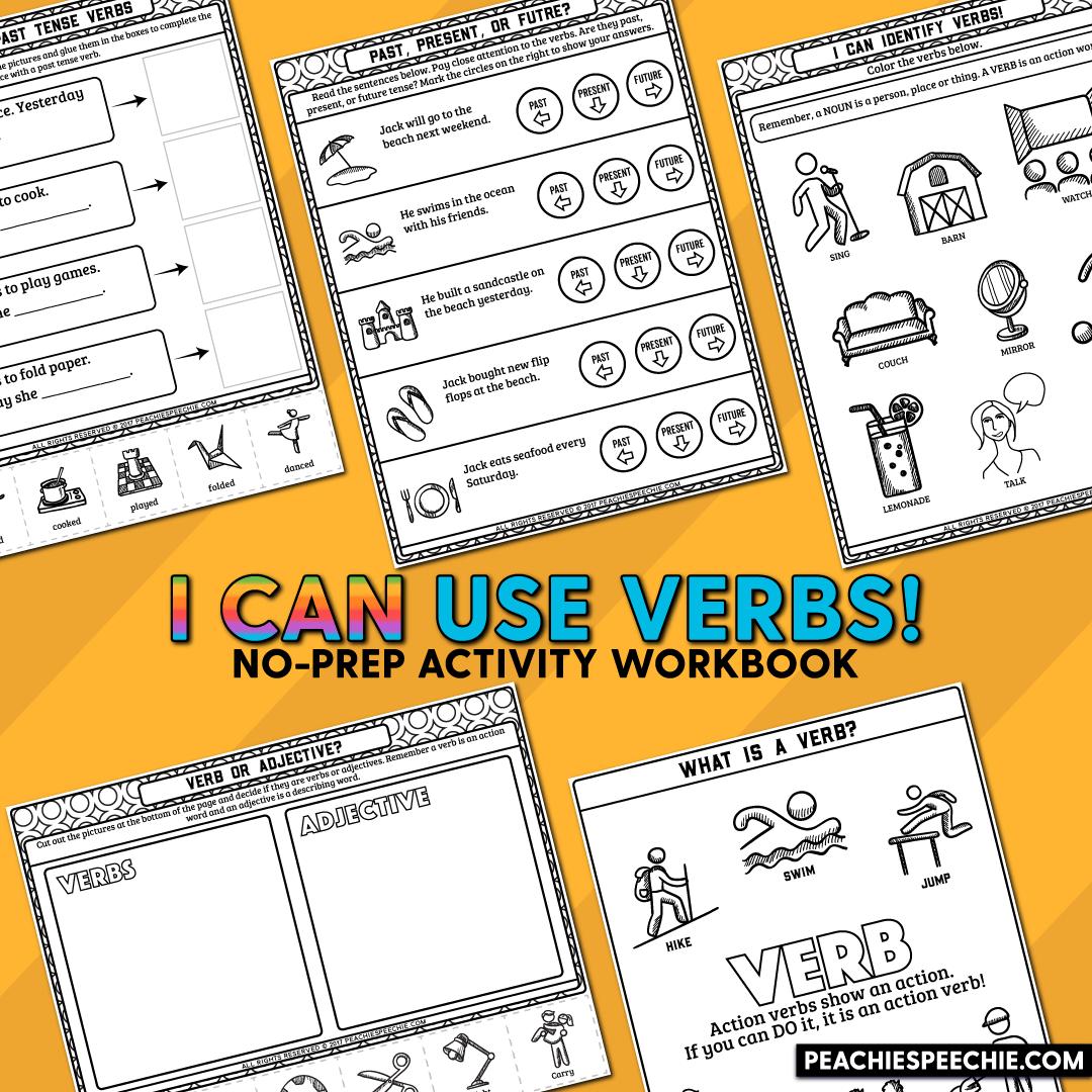 I Can Use Verbs No Prep Workbook
