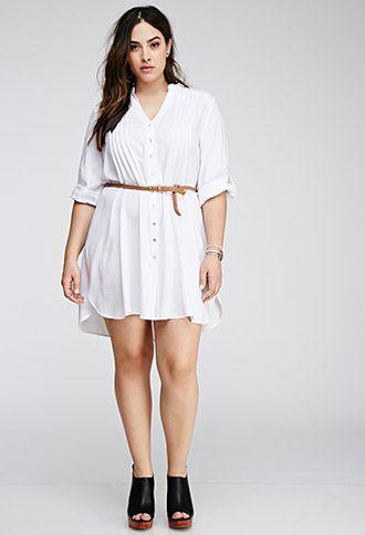 baf87384565 Pintucked Shirt Dress