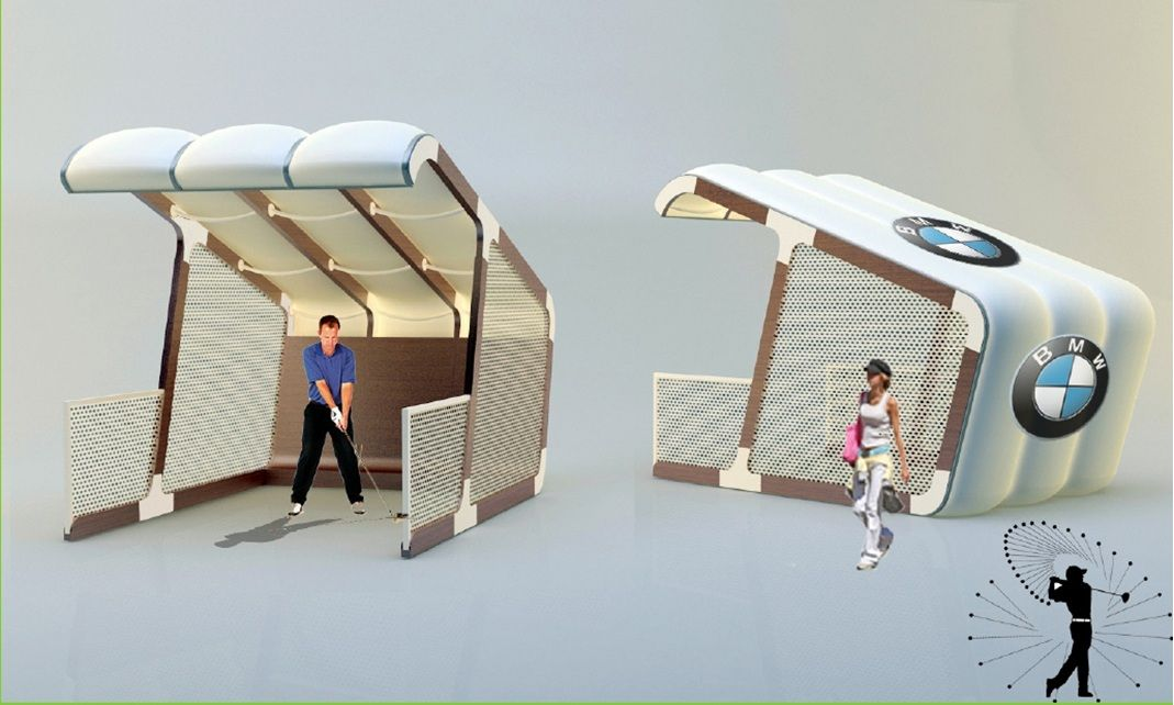 AirClad can be used for most temporary structures. Our unique concept was used to develop thse Golf Bays. Can be quickly installed and transportable to your event. Raise your brand awareness!