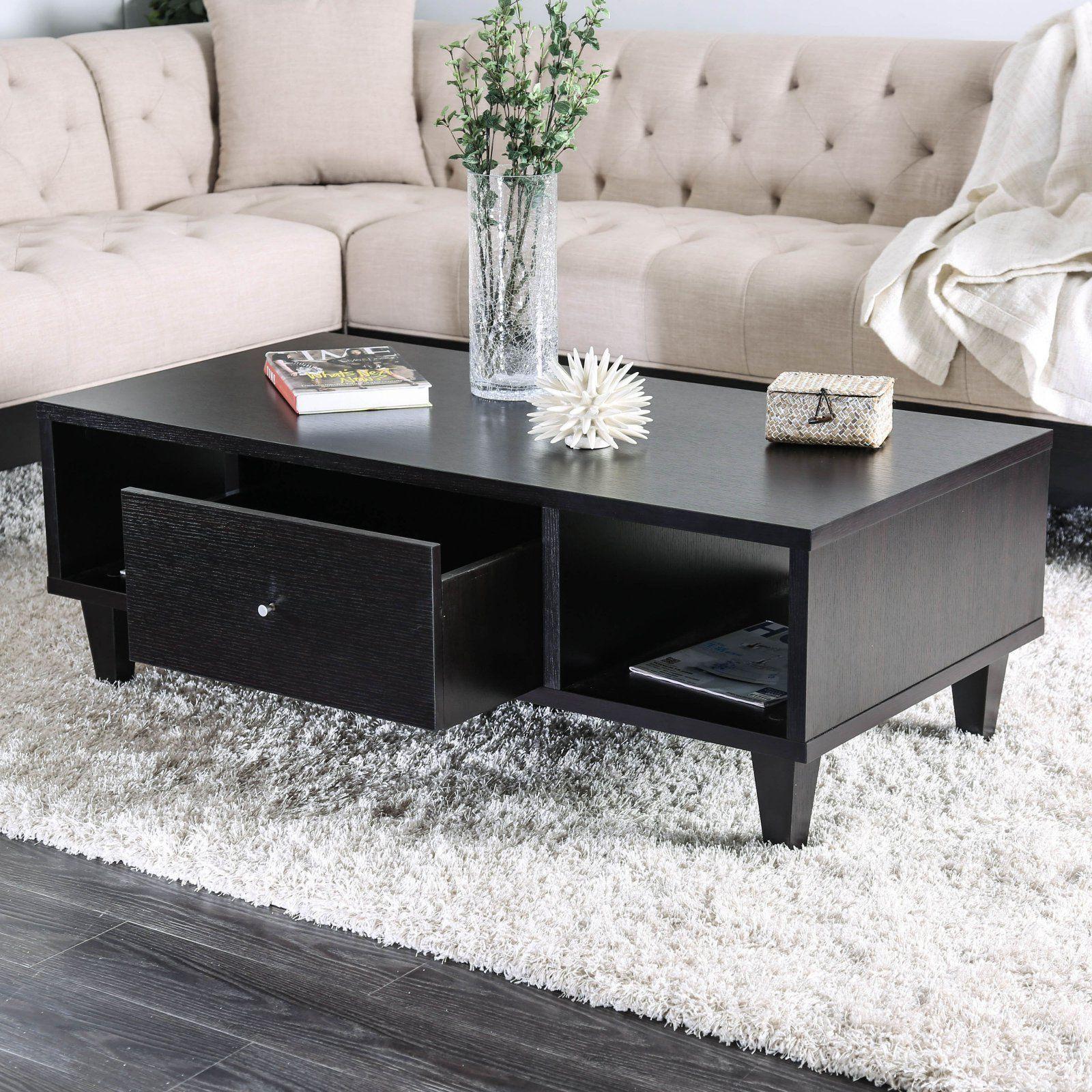 Furniture Of America Nogales Storage Drawer Coffee Table In