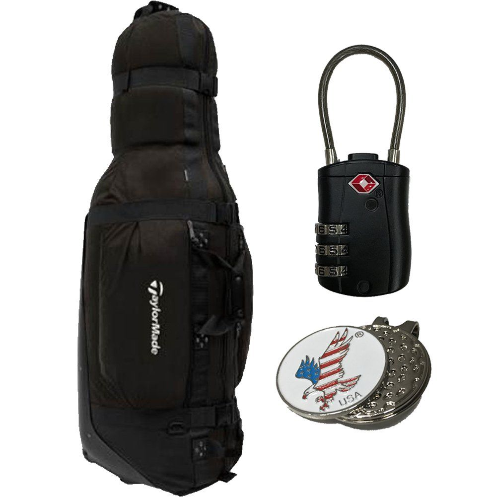 afb33771a1d Golf Bag *** TaylorMade 2018 Players Golf Travel Cover Bag by Club Glove  Large Pro 1 TSA Lock 1 Custom Ball Marker Clip Set American Eagle *** Learn  more by ...