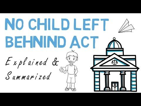 Leaving Special Ed Behind >> No Child Left Behind Explained Summarized Youtube Special
