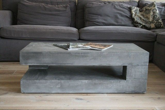 Couchtisch Quadratisch Beton Concrete Coffee Tables You Can Buy Or Build Yourself