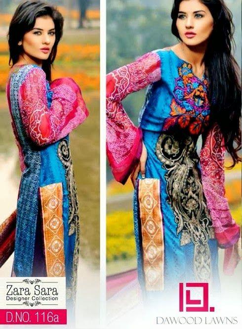 Zara Sara Designer Lawn Collection 2014 VOL-1 | Zara ara Lawn Collection by Dawood Textiles