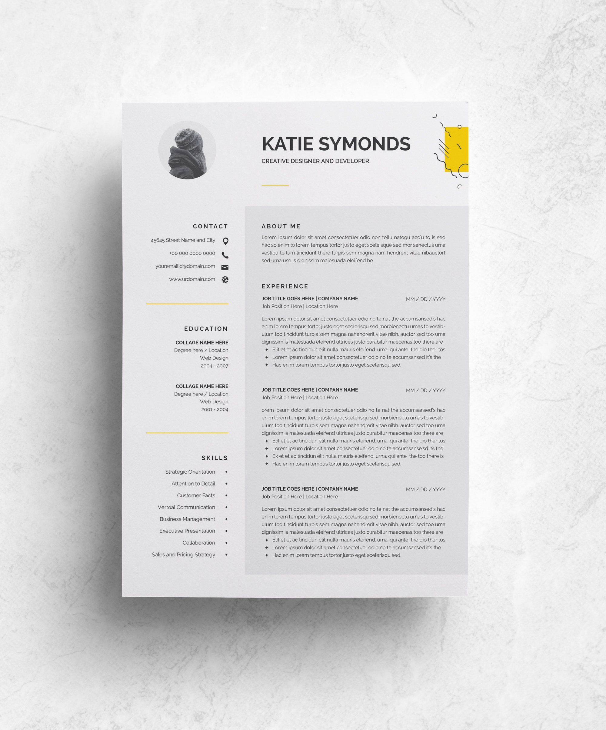 3 Pages Resume Template Cv Resume Template Modern Resume Template Resume