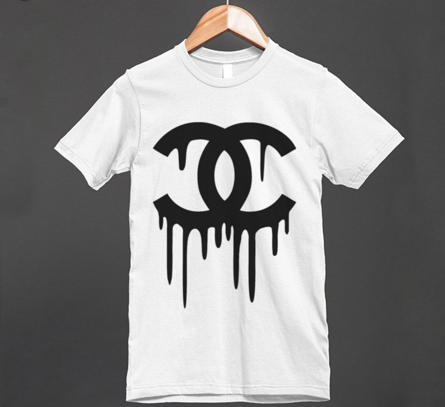 9e7b2f1857b Chanel inspired t shirt. Dripping Chanel logo. Unisex. Trendy shirts Size  s-3x. Fast Free shipping anywhere in the United States! by DropsofJupiter07  on ...