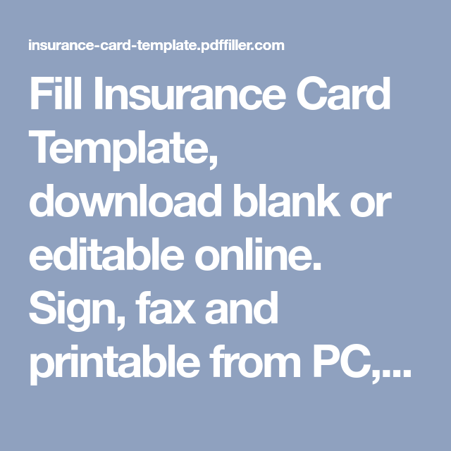 Green Card Insurance Template The 14 Steps Needed For Putting Green Card Insurance Templat Card Template Templates Printable Free Cards