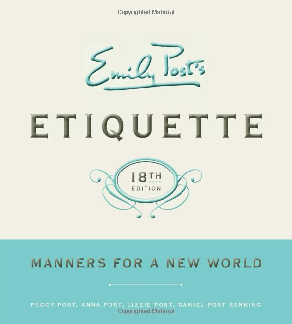 Wedding Gift Etiquette Remarriage : is built on etiquette} Grab her Emily Posts latest Etiquette ...