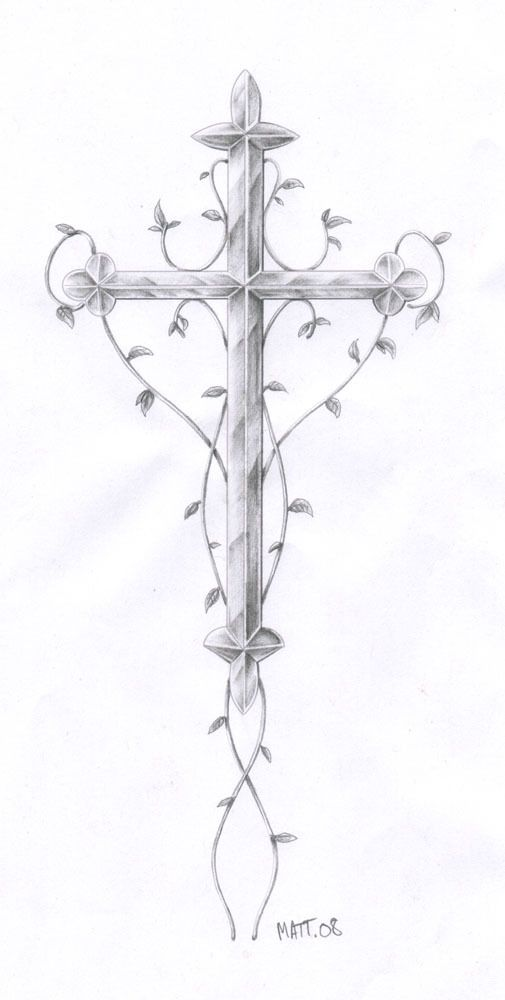 Croix Chrétienne Tatouage une commande de flash pour un tatouage croix simple maisqui s