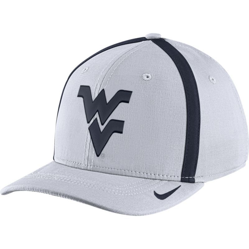 df24bae9608 ... discount code for nike mens west virginia mountaineers white aerobill  swoosh flex classic99 football sideline hat