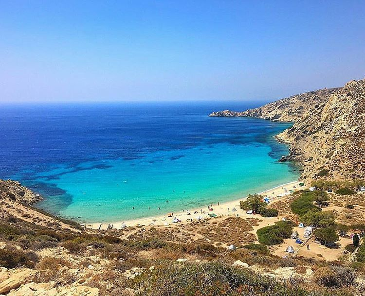 Gorgeous Livadi beach , at Donousa island (Δονούσα). Blue sea and sky meet…