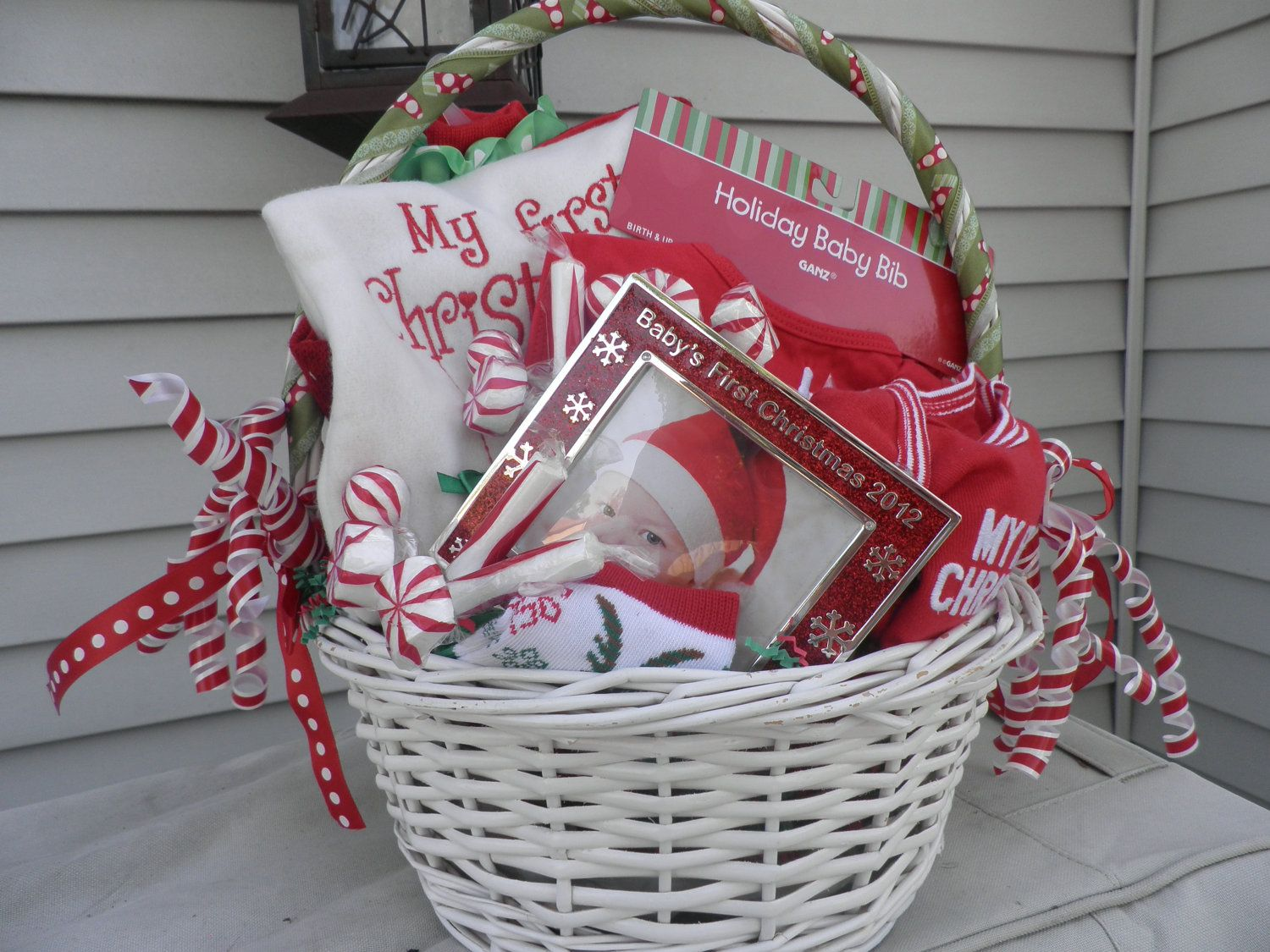 Baby\'s Firtst Christmas Gift Basket. $50.00, via Etsy. | Baby ...